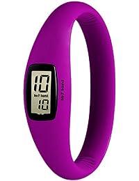 IO?ION! Evo Lila - size III E-VLT06-III - Reloj digital de cuarzo unisex, correa de silicona color morado