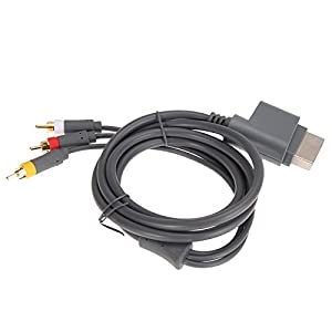 JALEX 3 RCA HD TV Audio Video AV Cord Optical Cable for Microsoft XBOX 360 Game