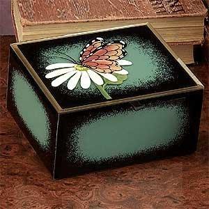 Preisvergleich Produktbild StealStreet ss-a-66011 Schmetterling Dekoration Glas Jewelry Box