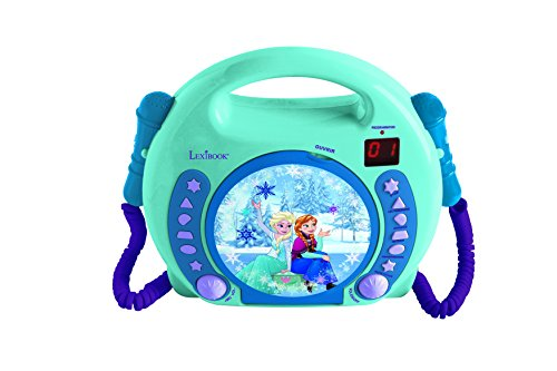 Lexibook RCDK100FZ Radio CD Player mit 2 Mikrofonen, Disney Frozen (Minion Radio Fm)