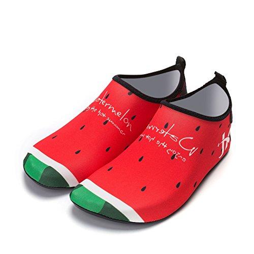 Scarpe da Arrampicata per Esterni Scarpe da Arrampicata per Bambini Paio di Scarpe da Nuoto Upstream Skincare Scarpe da Spiaggia Yoga Nuoto, Anguria, 34-35 Lunghezza Scarpe 20.4 CM
