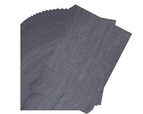Transferpapier - 30 Blatt Graphit Transferpapier, gewachstes Carbon Kopierpapier, schwarzes Transparentpapier, für Holz, Papier, Leinwand, Stoff, DIY Craft Art, 45,7 x 61 cm -
