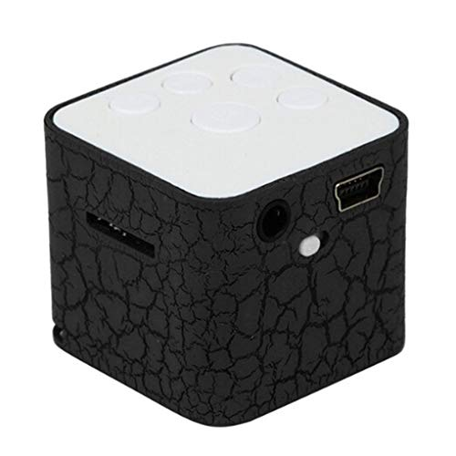 YILONG Mini Externe Kleine Lautsprecher LED leuchtender LED Luminous TF Karten-Quadrat Guter Sound Media MP3-Player