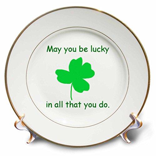 3drose CP _ 41480_ 1glücklich werden Sie können, in All That You Do grün shamrock-porcelain Teller, 20,3cm (Shamrock Teller)