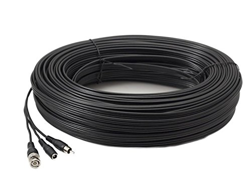 60 m PROFI Kupfer RG59 BNC Video, RCA Audio und Power CCTV Kabel -