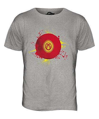 CandyMix Kirgisistan Fußball Herren T Shirt Grau Meliert