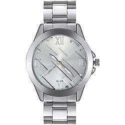 Bodhi2000® Men's Business Stainless Steel Watch Band Strap Quartz Wrist Watch Sliver