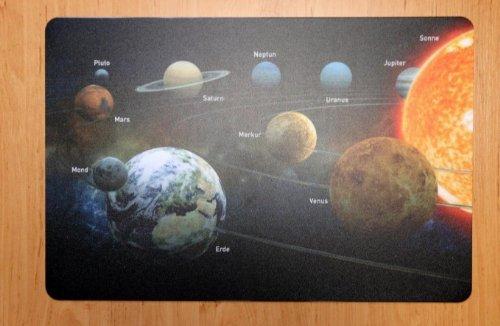 Schreibtischunterlage Sonnensystem Planeten 40 x 60 cm abwischbar Erde Sonne Mars