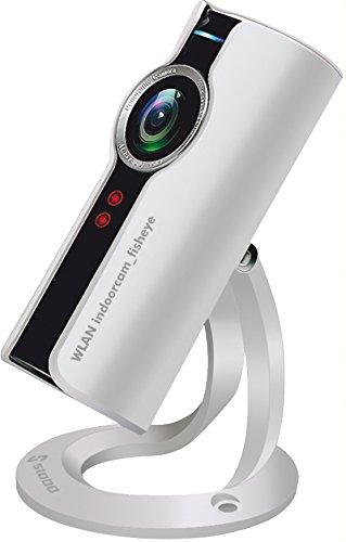 Stabo Elektronik WLAN indoorcam_fisheye 180° HD-Überwachungskamera Intercom Nachtsicht 128GB App-Steuerung