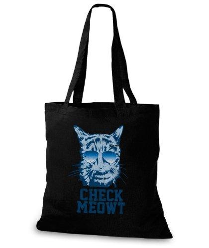 Stylobags Borsa Di Juta / Controllare Meowt Nero
