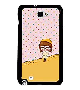 Fuson Premium 2D Back Case Cover Cute baby With white Background Degined For Samsung Galaxy Note 2::Samsung Galaxy Note 2 N7100