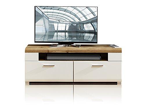FELIPA TV-Unterteil weiß/Eiche/Hirnholz - 4
