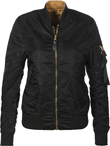 Alpha Industries MA-1 VF LW Reversible W Bomberjacke Schwarz Gold