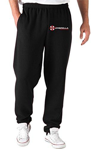 T-Shirtshock - Pantaloni Tuta TF0044 inspired by Resident Evil The Umbrella Corporation, Taglia M
