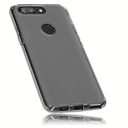 mumbi Schutzhülle für OnePlus 5T Hülle transparent schwarz