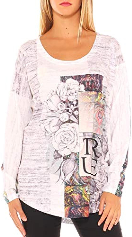 ... Les codes Jersey rosas Maxi t-Shirt Donna in Jersey codes Stampa  Floreale con Strass Wangmei Retro Fiore Stampa Girocollo Senza Maniche ... 027ba382bd2