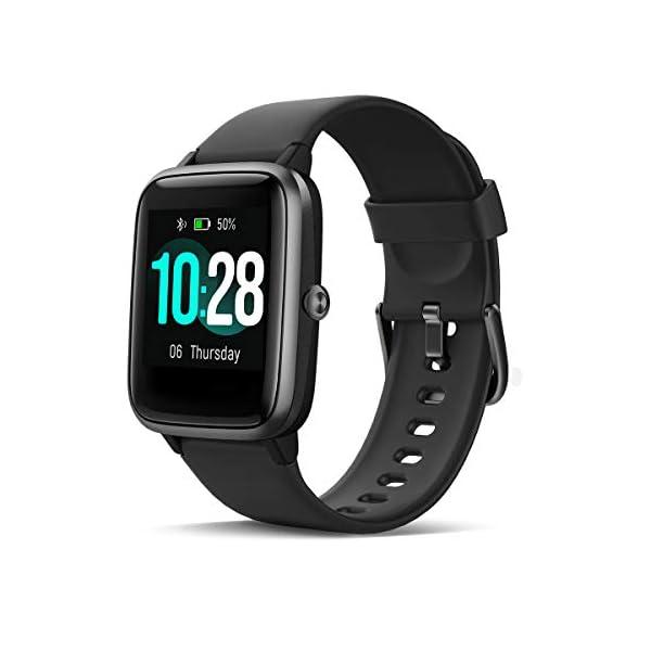 HOMVILLA Smartwatch Fitness Tracker Reloj Inteligente Impermeable IP68 Fitness con Monitor de Ritmo Cardíaco Podómetro Monitor de Sueño Cronómetro Temporizador para Hombres Mujeres iPhone Android rosado 1