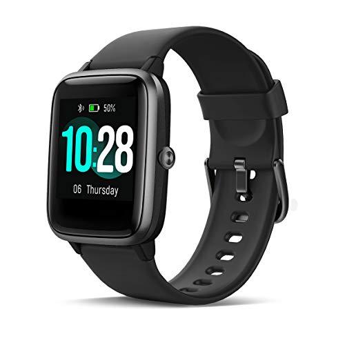 HOMVILLA Smartwatch Fitness Tracker Reloj Inteligente Impermeable IP68 Fitness con Monitor de Ritmo Cardíaco Podómetro Monitor de Sueño Cronómetro Temporizador para Hombres Mujeres iPhone Android