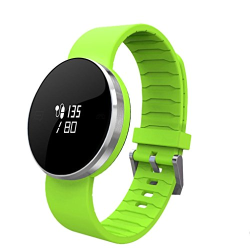 Smart Bracelet ONEMORES(TM) Pedometer Wristband Bluetooth Watch Activity Fitness Tracker (Green)