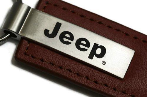 Jeep Schlüsselanhänger Authentic Leder braun Logo Schlüsselanhänger Schlüsselanhänger Band (Brown Schlüsselanhänger Logo Leder)