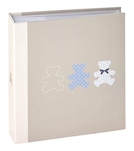 Ceanothe 271223 Timotee Album Photos Bébé avec 200 Vues Papier Gris 11,5 x 15 cm