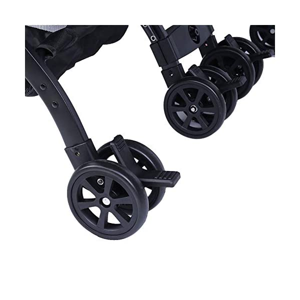lyrlody Baby Stroller,Lightweight Twin Pushchair Detachable Double Stroller Multifunction Folding Anti-Shock Pram with Baby Cup Holder for Babies Toddlers Children Kids Grey lyrlody LIGHTWEIGHT DESIGN:2 in 1 design, can be detached and used separately.Shock resistant design can effectively prevent external shock and keep your baby's brain Durable:Made of aluminum alloy material, very sturdy.With the baby cup holder, it is convenient for your baby to drink water Very Convenient:Large capacity, can hold more items for children, such as diapers, clothes and bottles 9