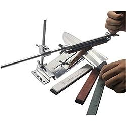 KKmoon Aiguiseur Couteau à Angle Fixe Mise à Niveau Kit en Acier Inoxydable Professionnel avec 4 Pierres à Affûter