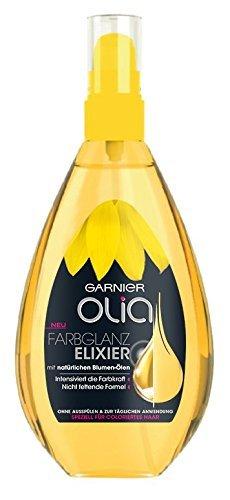 Garnier Olia Farbglanz Elixier mit natürlichen Blumen-Ölen Inhalt: 150ml Haaröl für coloriertes Haar für intensiven Farbglanz