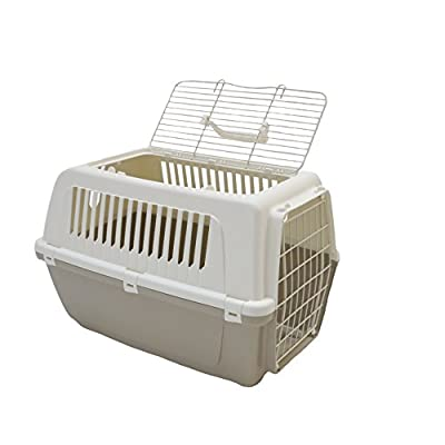 Rosewood Vision Free 2 Door Top Opening Cat and Pet Carrier 55 cm, Mocha from MP Bergamo