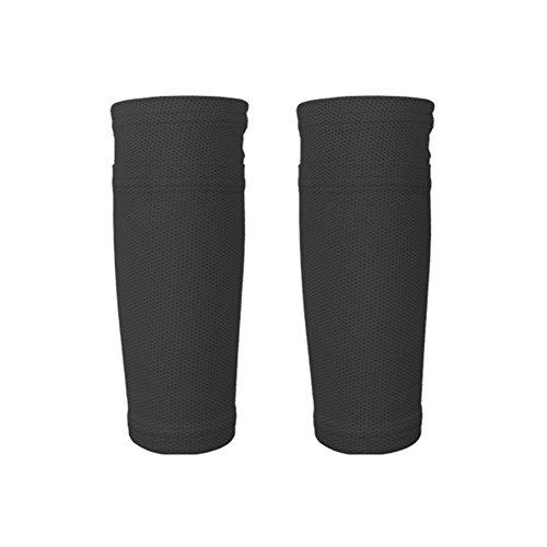 Leezo 1 Paar Fußball-Schutzsocken mit Tasche Shin Pads Bein-Ärmel Unterstützung für Den Lauf Radfahren Fußball Rugby Fitness Gym Golf Tennis