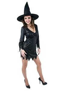 César - Disfraz de bruja para mujer, talla 40 (C196-002)