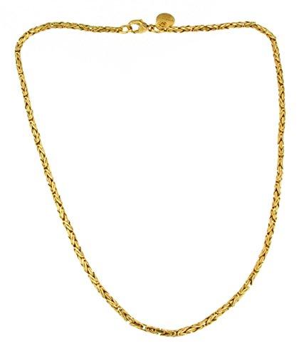 Königs-Kette rund Gold Doublé 2,5 mm 60 cm Halskette Gold-Kette Herren-Kette Damen Geschenk Schmuck ab Fabrik Italien tendenze BZGYRds2,5-60v (Schmuck-könig)