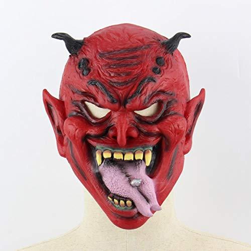 (Fantasyworld Halloween Masken Horror Ghost Face Zombie Vampire steppen Haut-Partei-Perücke-Maske)