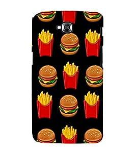 Burger and Fries 3D Hard Polycarbonate Designer Back Case Cover for LG G Pro Lite :: LG Pro Lite D680 D682TR :: LG G Pro Lite Dual :: LG Pro Lite Dual D686