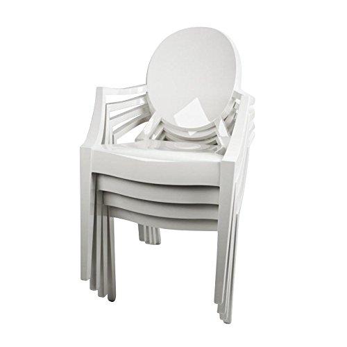 Louis Ghost - Kit de 4 fauteuils blanc/opaque/brillant