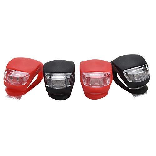 Goldoars LED Kinderwagen Set Silikon Leuchte Kinderwagen, 4 Stück Kinderwagen(2X LED Weißlicht & 2X LED rotlicht) Blinklicht Taschenlampe für Kinderwagen Nacht und Täglichen Gebrauch