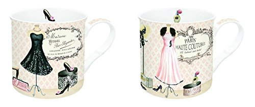 Nuova R2S 612MODE Coffret de 2 Mugs Paris Haute Couture