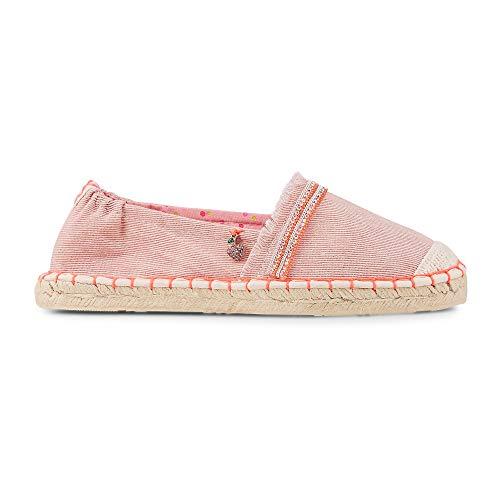 Cox Damen Damen Trend-Espadrille aus Textil, Slipper in Rosa mit geflochtener Bast-Sohle Rosa Textil 36