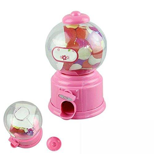 QUINTRA Klassische Vintage Doppel Kaugummi Maschine Bank Candy Dispenser Gumball Spielzeug (Rosa) (Kostüm Kleinkind Candy)