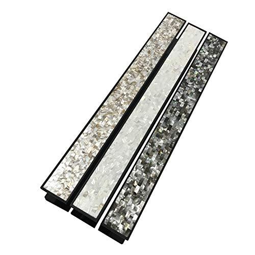 ZTZT Chinesische muschel türgriff mit rahmenlose tür glas massivholz tür aluminium türgriff schwarz hotel, gesamtlänge 400mm schwarz muschel -
