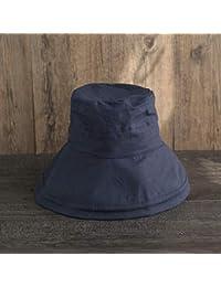SLH Sombrero de Pesca de algodón y cáñamo Sombrero de Lavabo Plegable de  Ocio Femenino Sombrero de Sol de Color sólido para Visera de… fa6609ea694