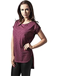Urban Classic Ladies Long Back Shaped Spray Dye Tee, Camiseta para Mujer