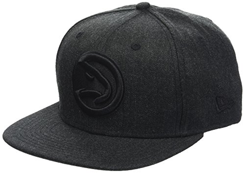 New Era Herren Total Tone Snapback 9FIFTY Atlanta Hawks NBA Cap, Black Hawk-baseball-cap