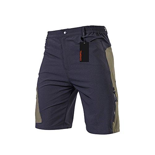 TOMSHOO Radhose oder 3D Gepolsterte Unterhose, Männer Fahrradhose Kurz, Atmungsaktiv Sports MTB Hose Herren