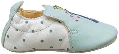 Catimini Baby Mädchen Pintade Krabbelschuhe Vert (Vte Blanc Vert Dpf/Souple)