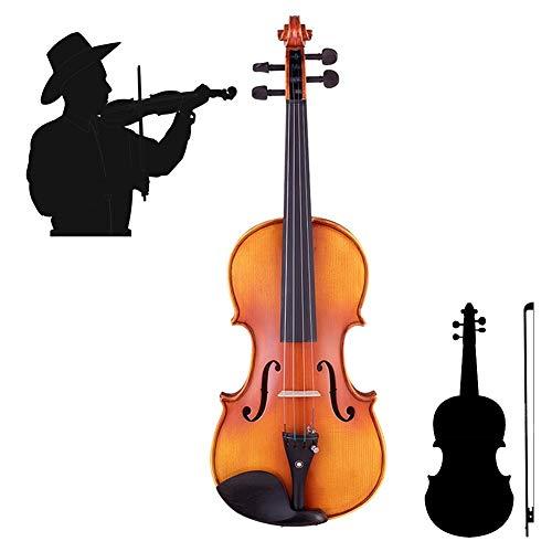 Yang violino violino 4/4 intagliato a mano e lucidato con learning point fingerplate dolce suono, con arco di violino, colofonia, custodia di violino, 5 formati yyfang (color : brown, size : 1/4)