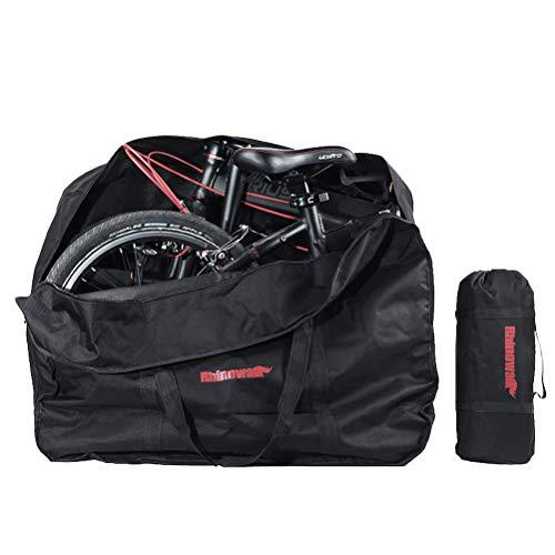 LIOOBO 20 Zoll Folding Bike Bag Laden Fahrzeug Tragetasche Beutel Gepackt Auto Verdickt Tragbare Fahrrad Pack (Schwarz)
