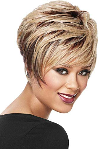 Blonde Lace Front Wig Short Natürliche Volle Dame Curl Perücke Cosplay Party -