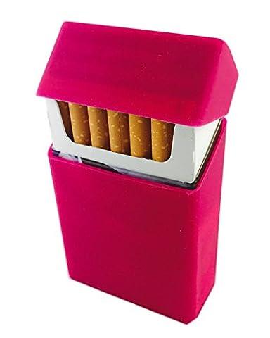 Offre Lagiwa Etui à paquet cigarettes en silicone avec 1 cadeau bonus - Couleur au choix (Rose)