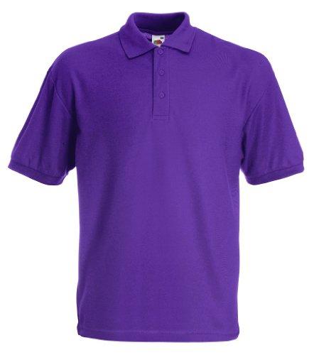 Fruit of the Loom Herren Poloshirt SS025M Violett